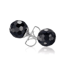 Kagi Jet Black Stud Earrings