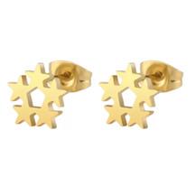 Kagi Star Cluster Studs Gold