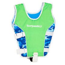 Torpedo7 Kids Swim Vest - Fluro Green