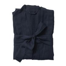 Bella Women's Linen Dressing Gown - Navy