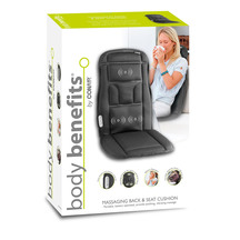 Body Benefits Massaging Back & Seat Cushion