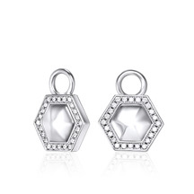 Kagi Sterling Silver Hexagon Ear Charms