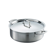 Le Creaset 3 Ply Stainless Steel Sauteuse 28cm with lid