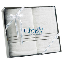 Christy Bath Towel Gift Set White (2 Bath towels in gift ...