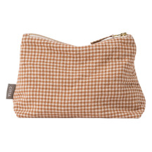 Citta Gingham Linen Utility Bag Malt/Natural