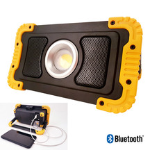 Woodbuilt 15W LED Rechargeable Work Light with Bluetooth ...
