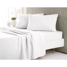 Sheridan Plain Dye Flannelette Sheet Set - White