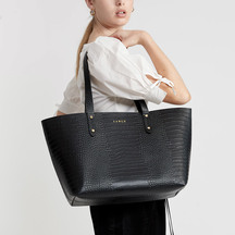 Saben Kelly Tote - Black Croc