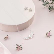 STERLING - Boxed Gift set -  Manuka Flower Crescent Neckl...