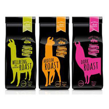 THREE LLAMAS Sampler Pack Wellbeing/Medium/Dark Roast