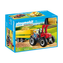 Playmobil Tractor with Feed Trailer
