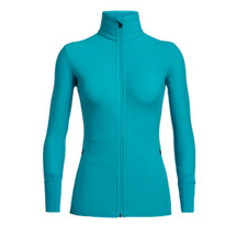 Icebreaker Women's Descender Long Sleeve Zip Arctic Teal