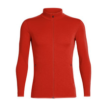 Icebreaker Men's Elemental Long Sleeve Zip CHILI RED