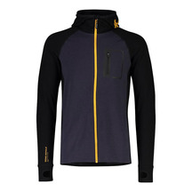 Mons Royale Mns Traverse Midi Full Zip Hd - 9 Iron / Gold