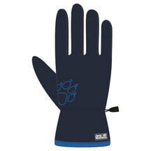 Jack Wolfskin Youth Baksmalla Fleece Glove - Midnight Blue