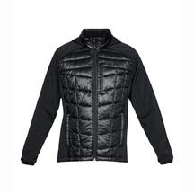 Under Armour Mens Hybrid TP Hood Fleece Jacket - Black/Bl...