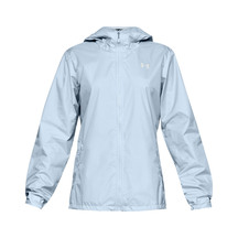 Under Armour Womens Forefront Rain Jacket - Blue/Onyx White