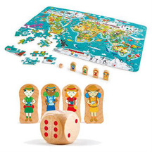 Hape 2 in 1 World Tour Puzzle & Game
