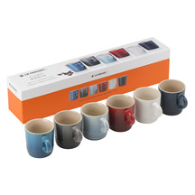 Le Creuset Stoneware Coastal Espresso Mugs 100ml - Set of 6