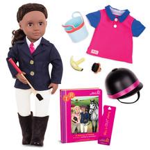 """OG 18"""" Deluxe Poseable Doll w Book - Rashida"""