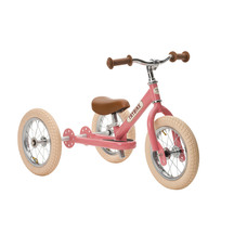 Trybike Pink with brown seat and grips