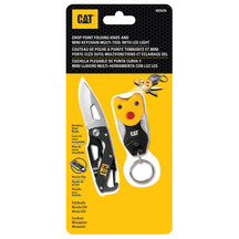 CAT Folding Skeleton Knife & Mini Keychain Multi Tool Set