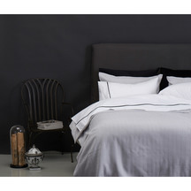 Herringbone Pale Grey  Duvet Set