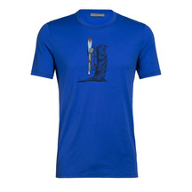 Icebreaker Mens Tech Lite Short Sleeve Crewe Otter Paddle...