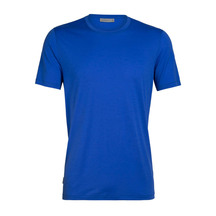 Icebreaker Mens Tech Lite Short Sleeve Crewe Lapis