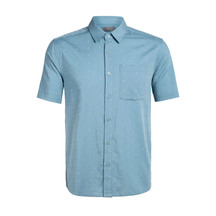 Mens Compass Short Sleeve Shirt Waterfall
