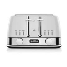 New York 4 Slice Toaster White Silver