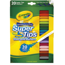 Crayola Washable Super Tip Markers Pack of 20