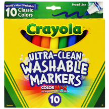 Crayola Classic Broad Line Washable Markers Pack of 10
