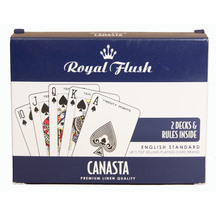 Royal Flush Canasta Playing Cards Set